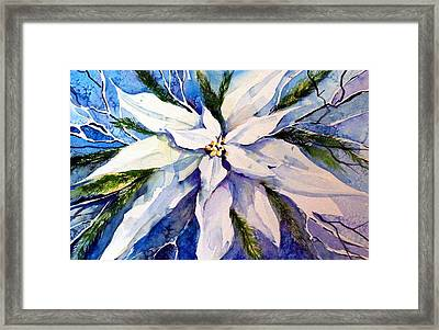Elegant White Christmas Framed Print by Mindy Newman