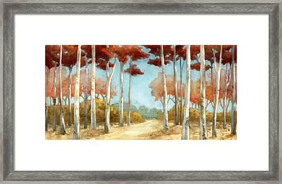 Elegantredforest Framed Print by Mauro DeVereaux