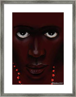 Elegua -young Man Framed Print by Carmen Cordova