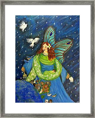 Elemental Angel Of Earth Framed Print by The Art With A Heart By Charlotte Phillips