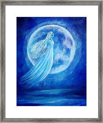 Elemental Earth Angel Of Water Framed Print by The Art With A Heart By Charlotte Phillips
