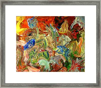 Elemental Merge Framed Print by Karen L Christophersen