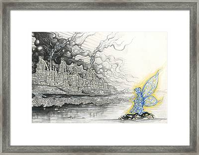 Elemental Praying For The End Of Industrial Pollution Framed Print by Alma