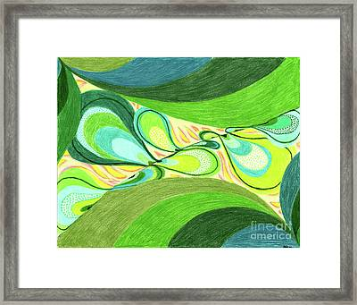 Framed Print featuring the drawing Elements by Kim Sy Ok