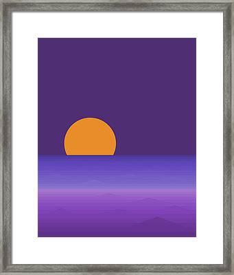 Elements - Lavender Sea - Purple Framed Print
