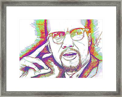 Elements Of A Malcolm X  Framed Print by Collin A Clarke