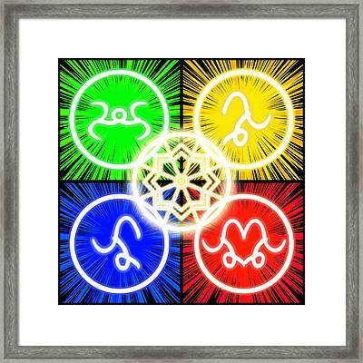 Framed Print featuring the digital art Elements Of Consciousness by Shawn Dall
