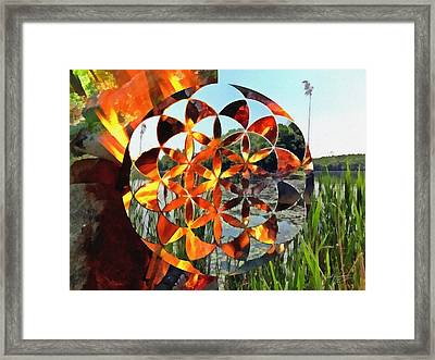 Framed Print featuring the digital art Elements Of Life by Derek Gedney