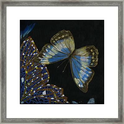 Elena Yakubovich - Butterfly 2x2 Top Right Corner Framed Print by Elena Yakubovich
