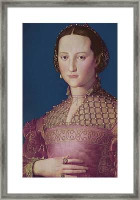 Eleonora Da Toledo Framed Print by Agnolo Bronzino