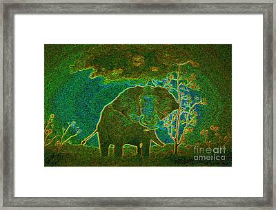 Elephant Abstract Framed Print