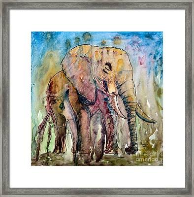 Elephant Framed Print by Anastasis  Anastasi