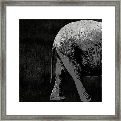 Elephant Animal Decorative Black And White Wall Poster 9 Framed Print by Diana Van