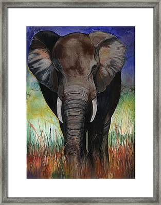 Elephant Framed Print by Anthony Burks Sr