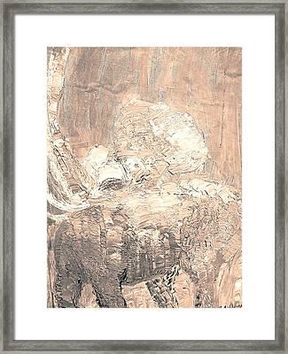 Elephant Framed Print by BJ Abrams