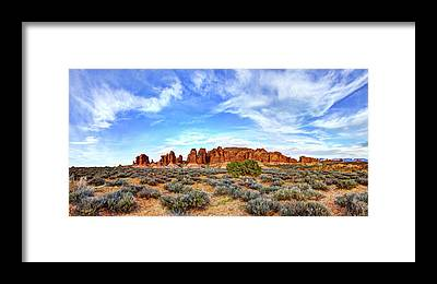 Butte Framed Prints