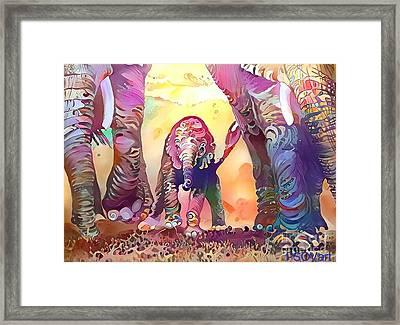 Elephant Delight 1 Framed Print