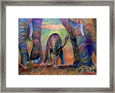 Elephant Delight 2 Framed Print