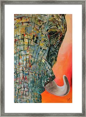 Elephant Face 2 Framed Print