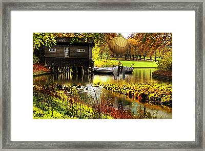 Elephant Flight Collections Framed Print