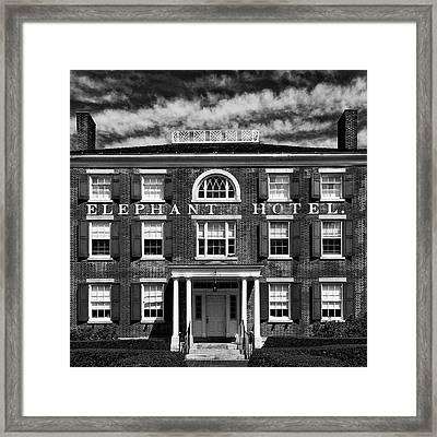 Elephant Hotel Framed Print