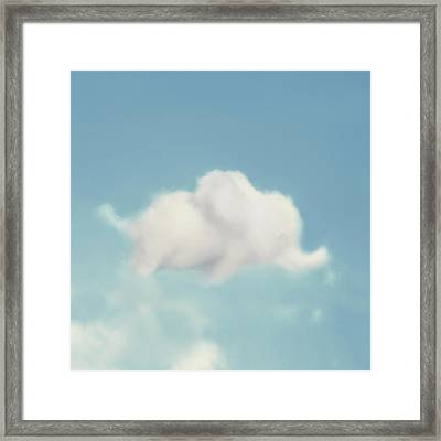 Elephant In The Sky - Square Format Framed Print by Amy Tyler