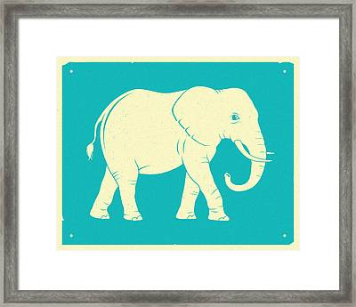 Elephant  Framed Print by Jazzberry Blue