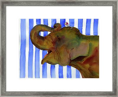 Elephant Joy Framed Print