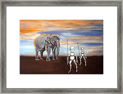 Elephant King Framed Print