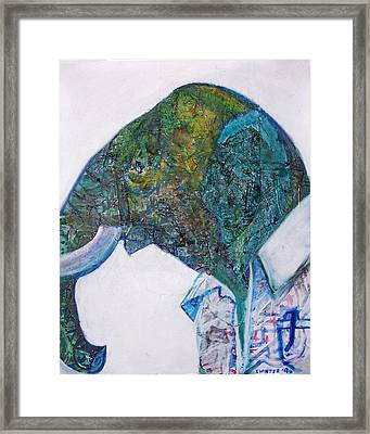 Elephant Man Framed Print by Dave Kwinter