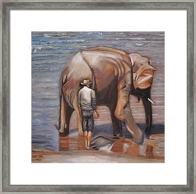 Elephant Man Framed Print by Keith Bagg