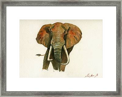 Elephant Painting           Framed Print by Juan  Bosco