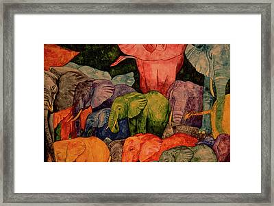 Elephant Party Framed Print