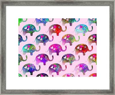 Elephant Party Framed Print by Kathleen Sartoris