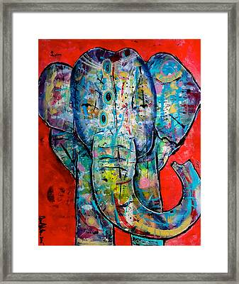 Elephant Redux Framed Print by Jenn Ashton