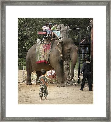 Elephant Ride Framed Print