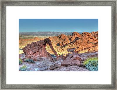 Elephant Rock - Hdr - Valley Of Fire Framed Print
