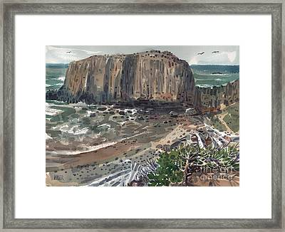 Elephant Rock Framed Print by Donald Maier