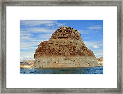 Elephant Rock Lake Powell Framed Print