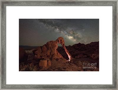 Elephant Rock Milky Way Galaxy Framed Print by Michael Ver Sprill