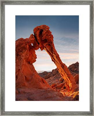 Elephant Rock Vertical Framed Print by Leland D Howard