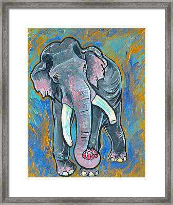 Elephant Spirit Dreams Framed Print by Jenn Cunningham