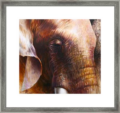Elephant Empathy Framed Print
