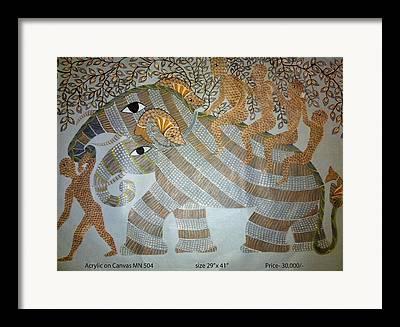 Gond Paintings Framed Prints