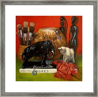 Elephants And Ingres Framed Print by Donelli  DiMaria