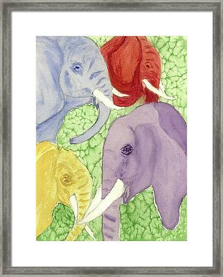 Elephants In The Room Framed Print