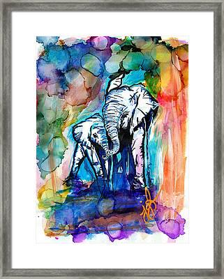 Elephants On Parade Framed Print by Jordan  Bodenhamer Barnard