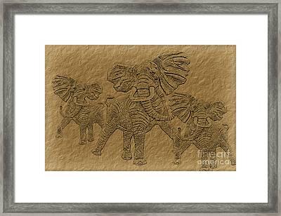 Elephants Three Framed Print by Tim Hightower