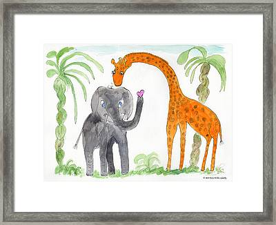 Elephoot And Elliot Framed Print