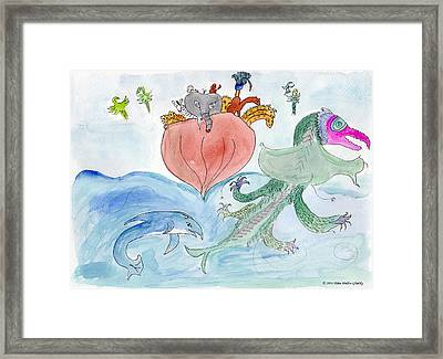 Elephoot In The Gulf Of Oman Framed Print